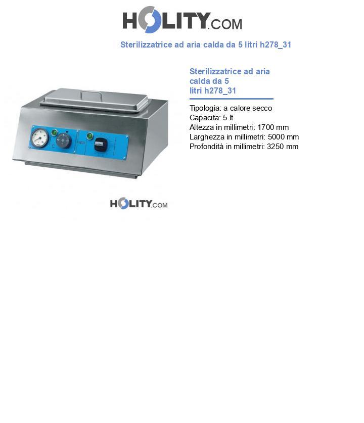 Sterilizzatrice ad aria calda da 5 litri h278_31