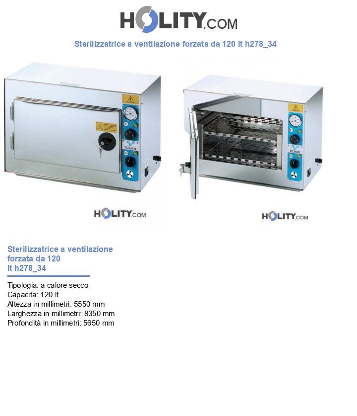 Sterilizzatrice a ventilazione forzata da 120 lt h278_34