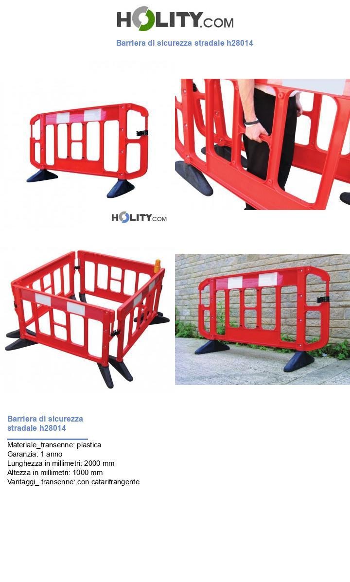 Barriera di sicurezza stradale h28014
