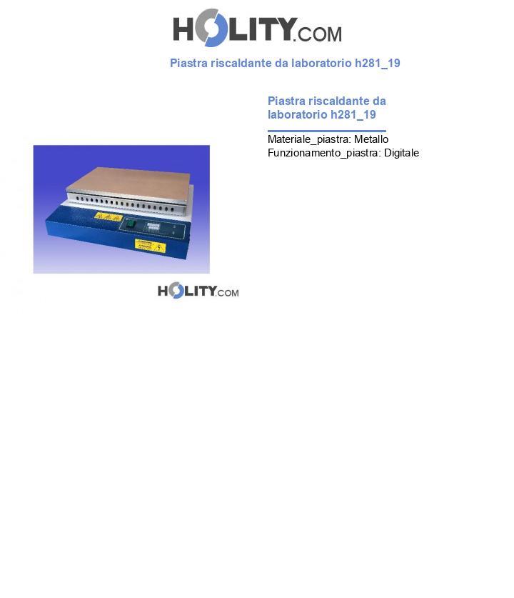 Piastra riscaldante da laboratorio h281_19