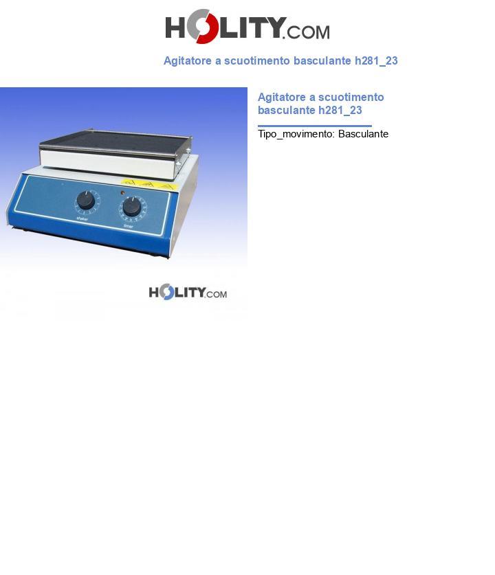Agitatore a scuotimento basculante h281_23