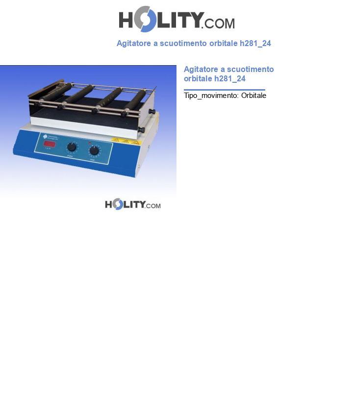 Agitatore a scuotimento orbitale h281_24