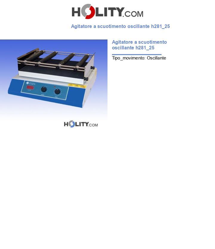 Agitatore a scuotimento oscillante h281_25