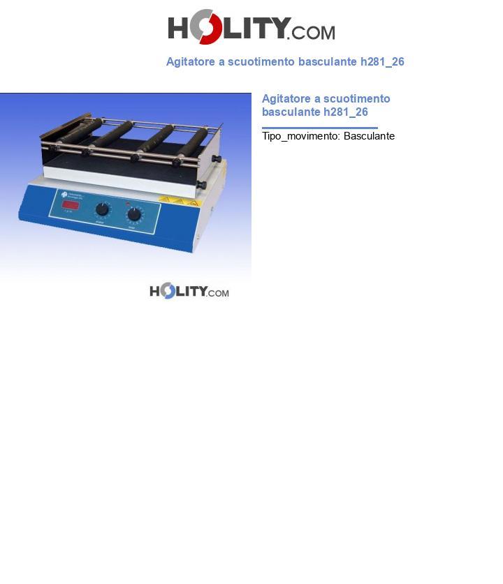 Agitatore a scuotimento basculante h281_26