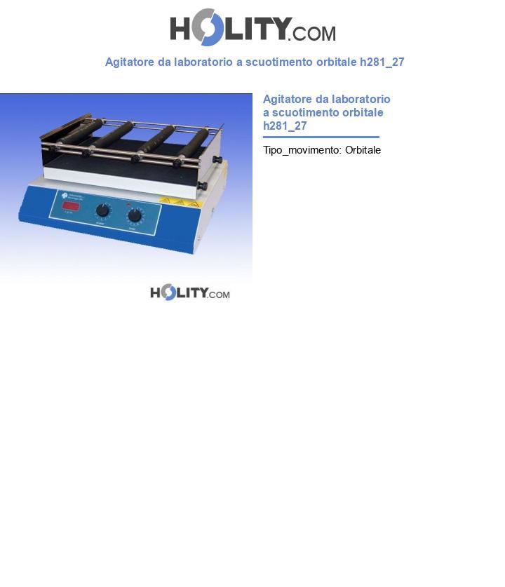 Agitatore da laboratorio a scuotimento orbitale h281_27