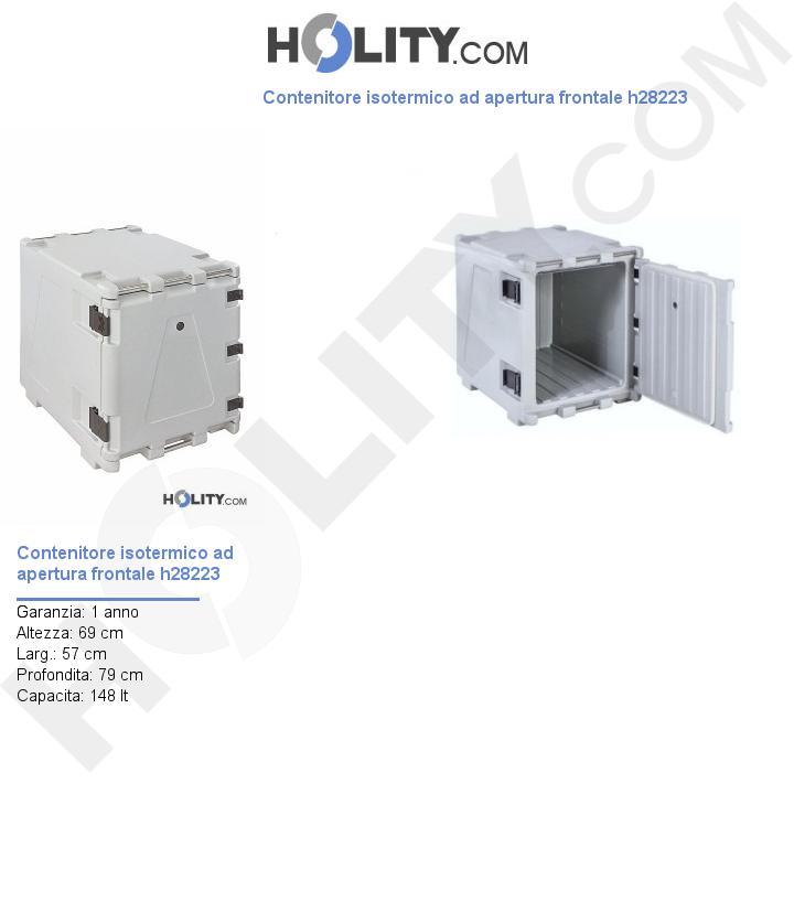 Contenitore isotermico ad apertura frontale h28223