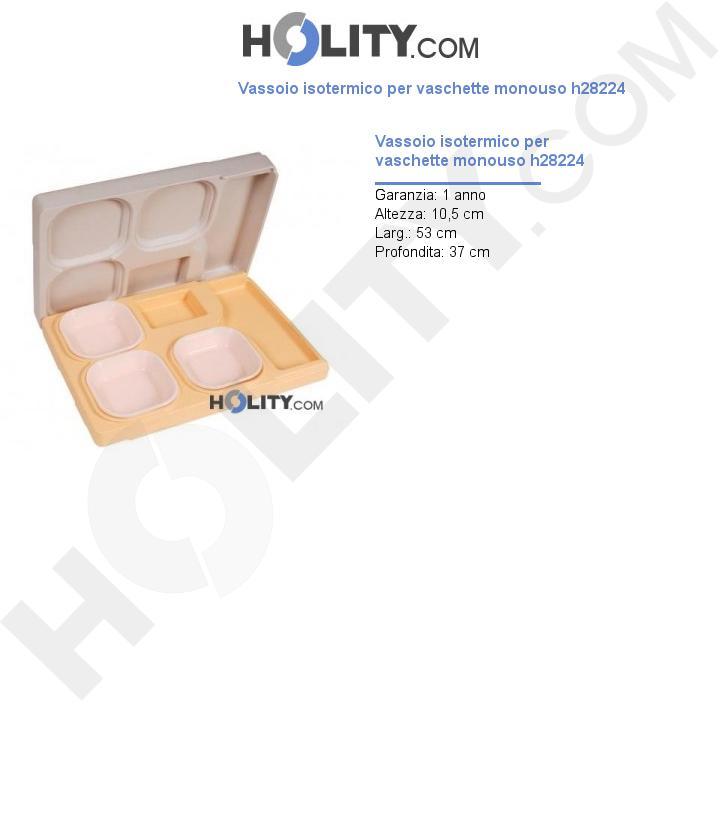 Vassoio isotermico per vaschette monouso h28224