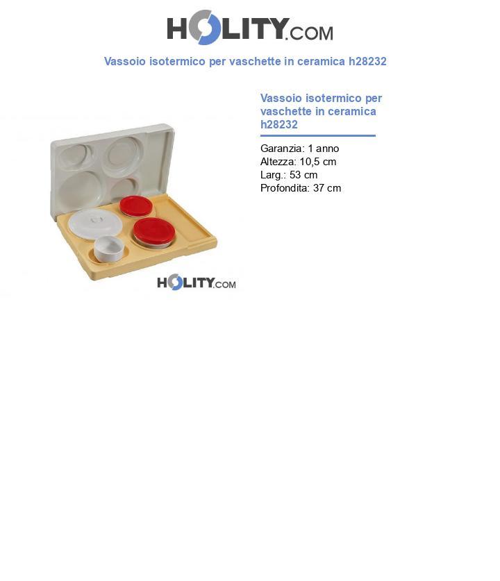 Vassoio isotermico per vaschette in ceramica h28232