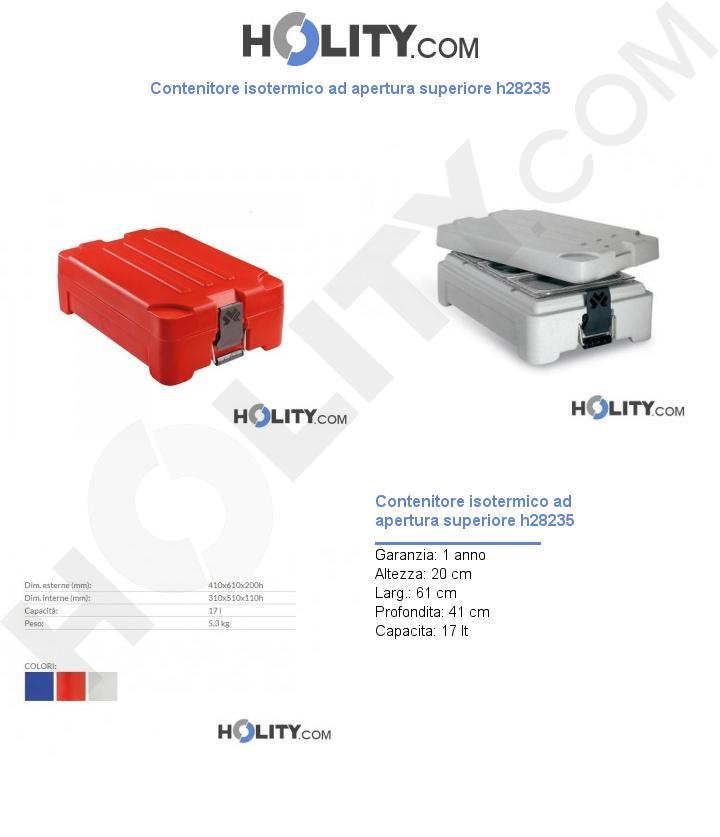 Contenitore isotermico ad apertura superiore h28235