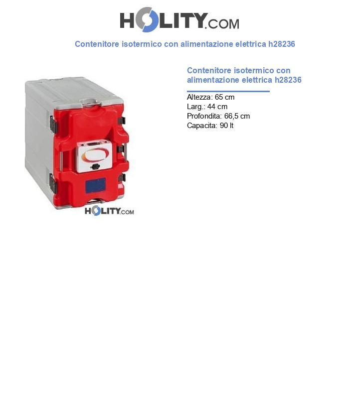 Contenitore isotermico con alimentazione elettrica h28236