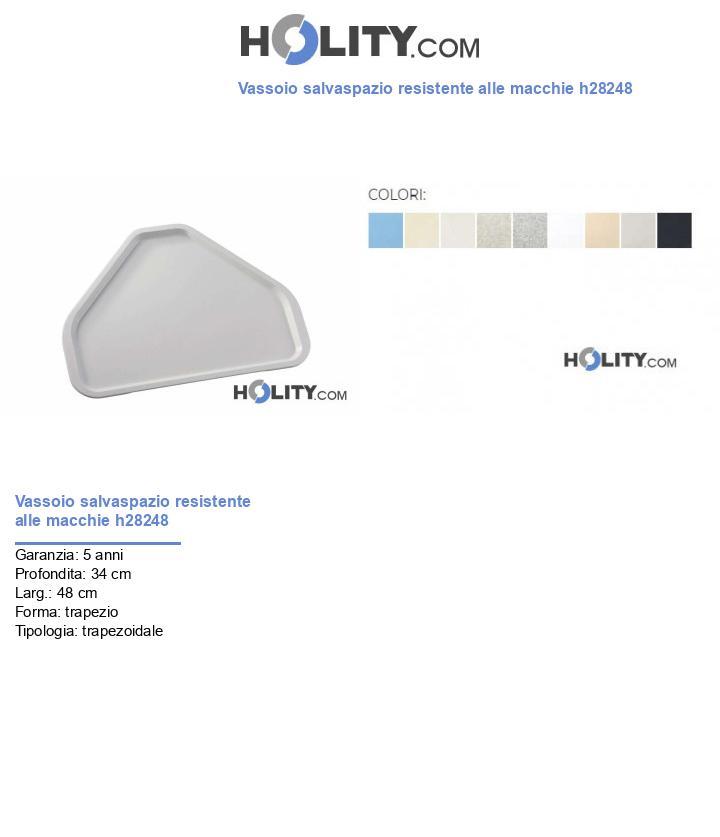 Vassoio salvaspazio resistente alle macchie h28248