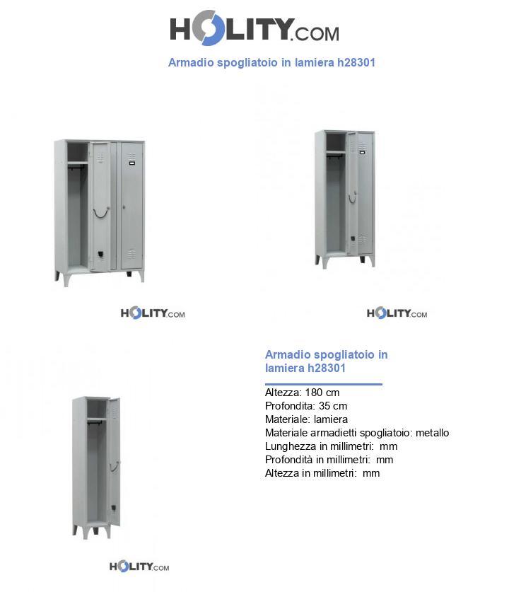 Armadio spogliatoio in lamiera h28301