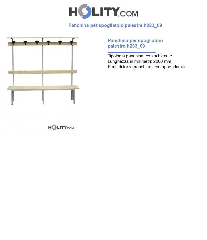 Panchina per spogliatoio palestre h283_09