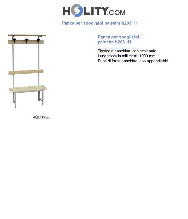 Panca per spogliatoi palestre h283_11