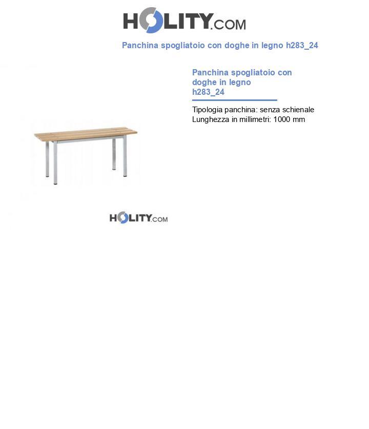 Panchina spogliatoio con doghe in legno h283_24