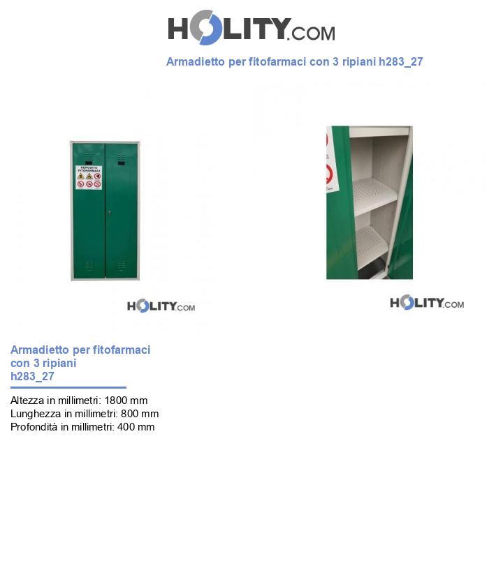 Armadietto per fitofarmaci con 3 ripiani h283_27