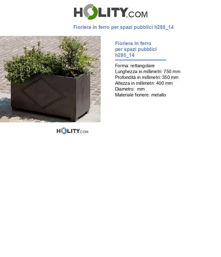Fioriera in ferro per spazi pubblici h285_14