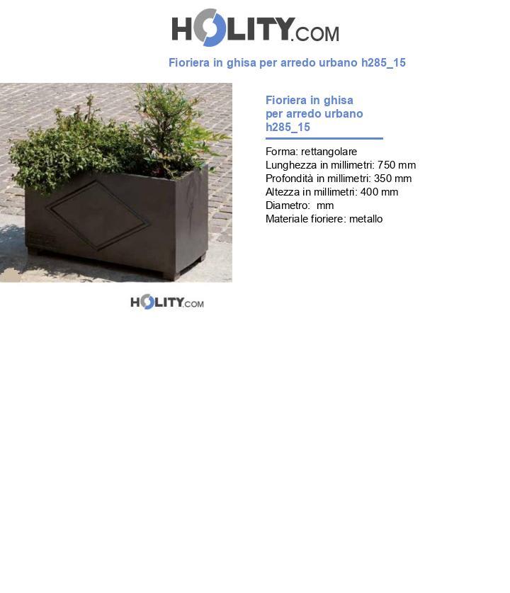 Fioriera in ghisa per arredo urbano h285_15