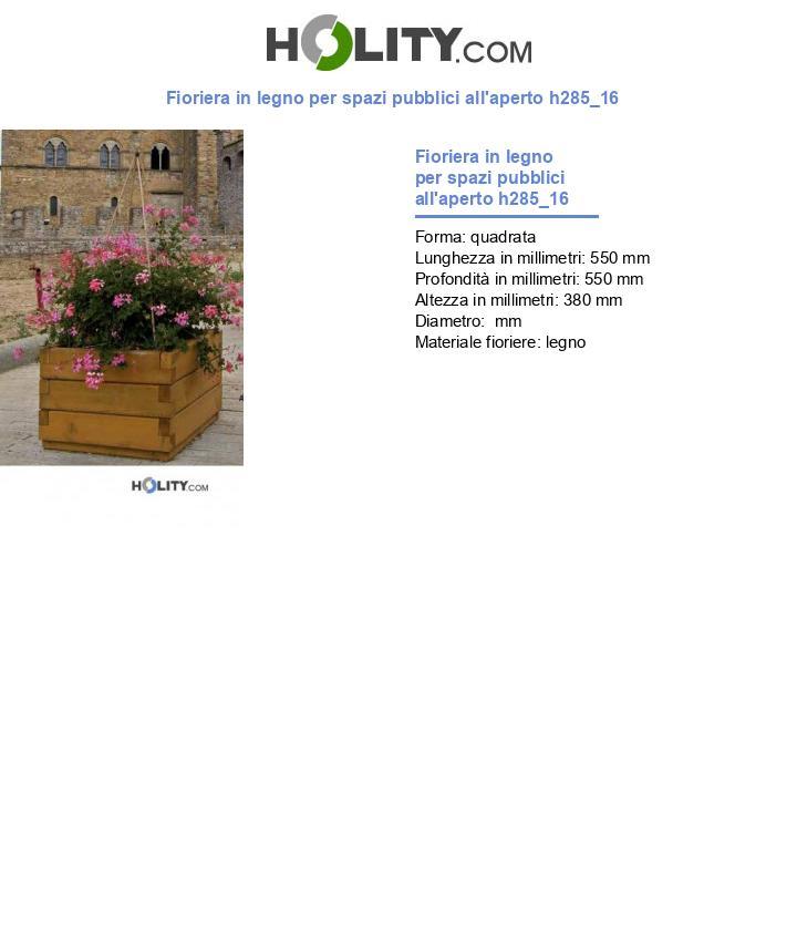 Fioriera in legno per spazi pubblici all'aperto h285_16