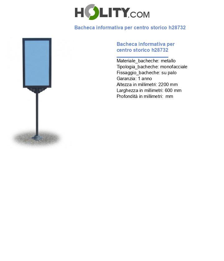 Bacheca informativa per centro storico h28732