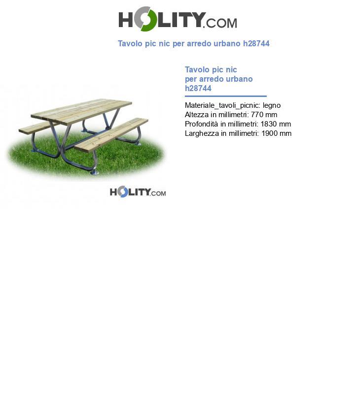 Tavolo pic nic per arredo urbano h28744