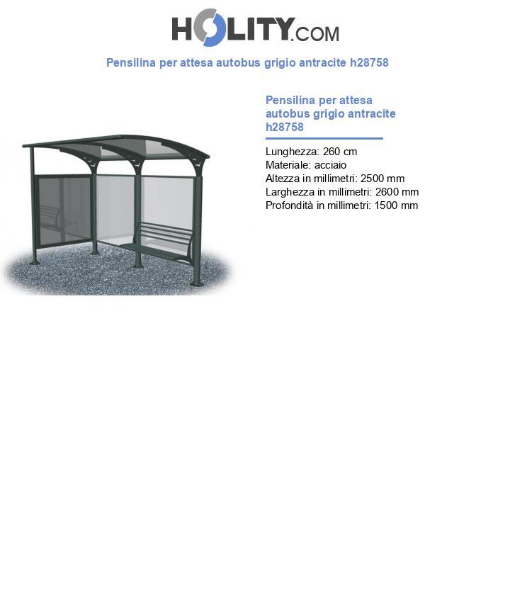 Pensilina per attesa autobus grigio antracite h28758