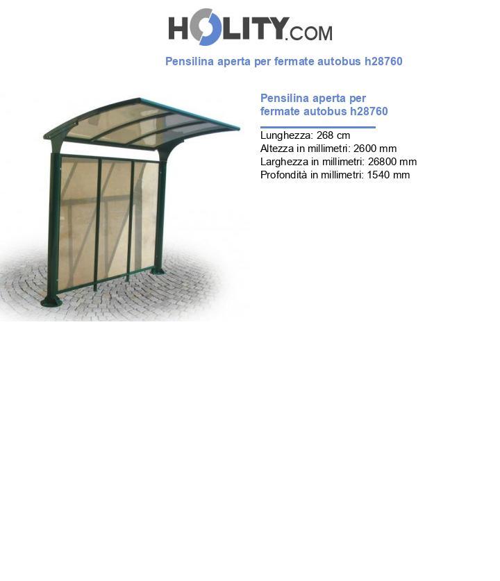 Pensilina aperta per fermate autobus h28760