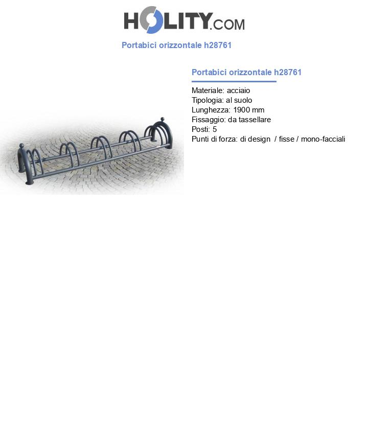 Portabici orizzontale h28761