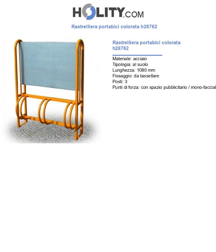 Rastrelliera portabici colorata h28762