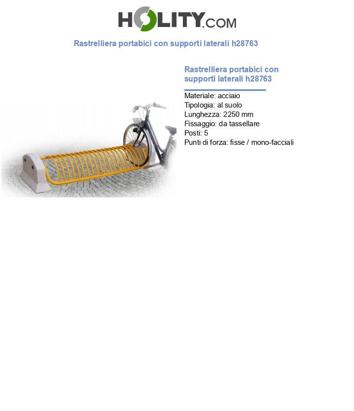 Rastrelliera portabici con supporti laterali h28763