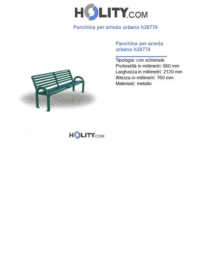 Panchina per arredo urbano h28774
