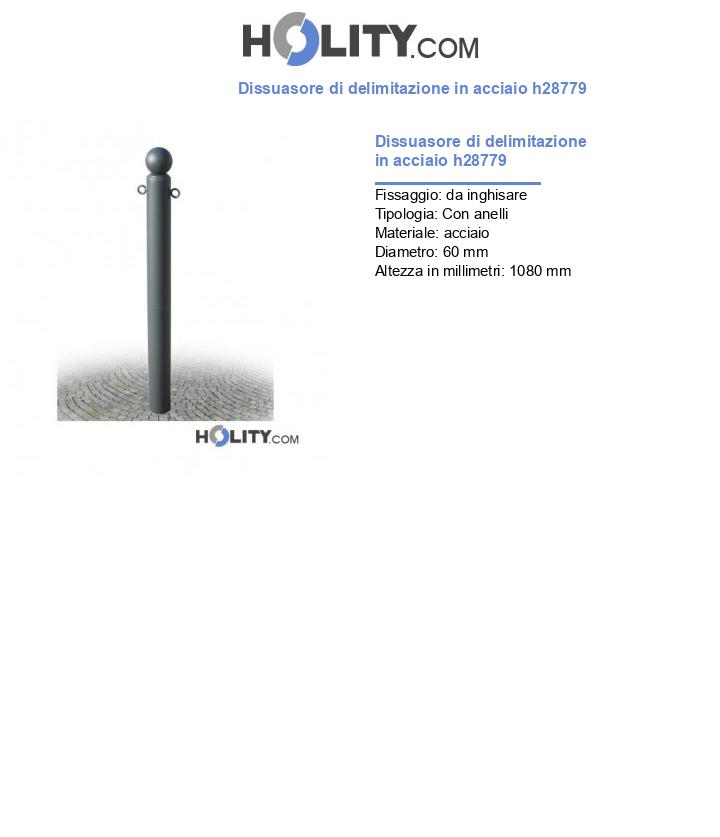 Dissuasore di delimitazione in acciaio h28779