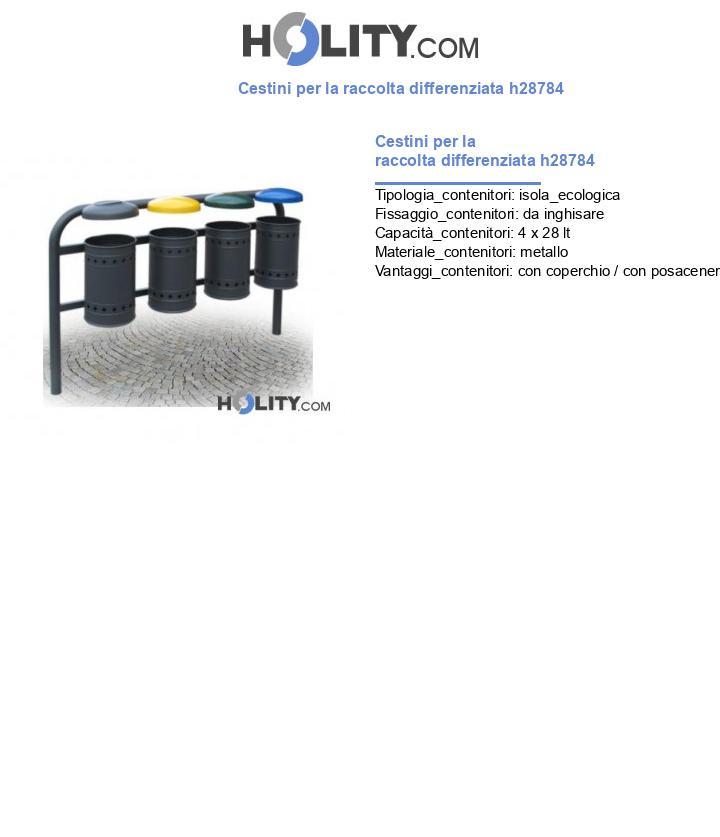 Cestini per la raccolta differenziata h28784