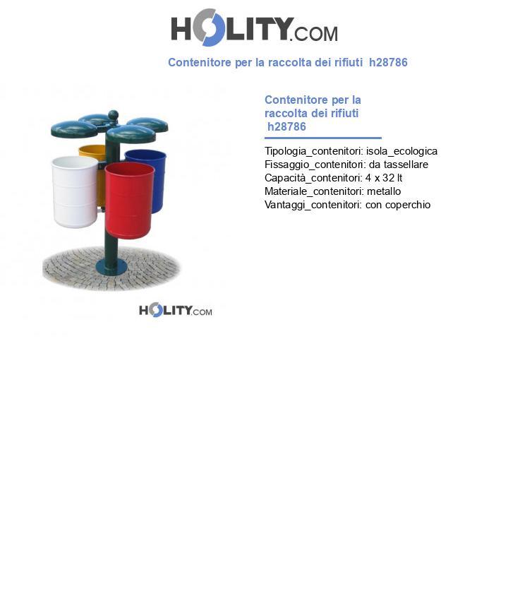 Contenitore per la raccolta dei rifiuti  h28786