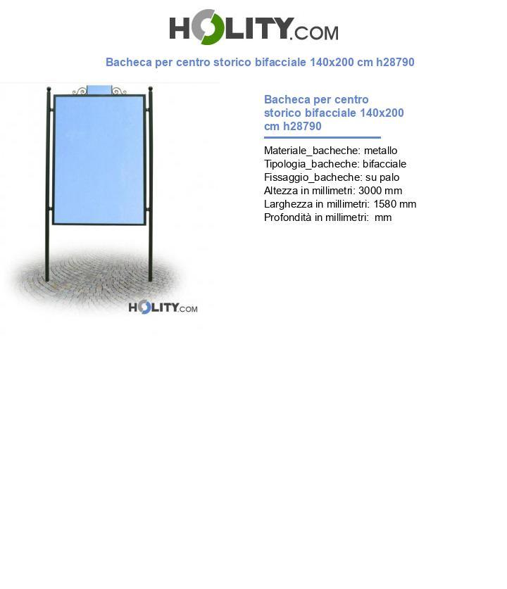 Bacheca per centro storico bifacciale 140x200 cm h28790