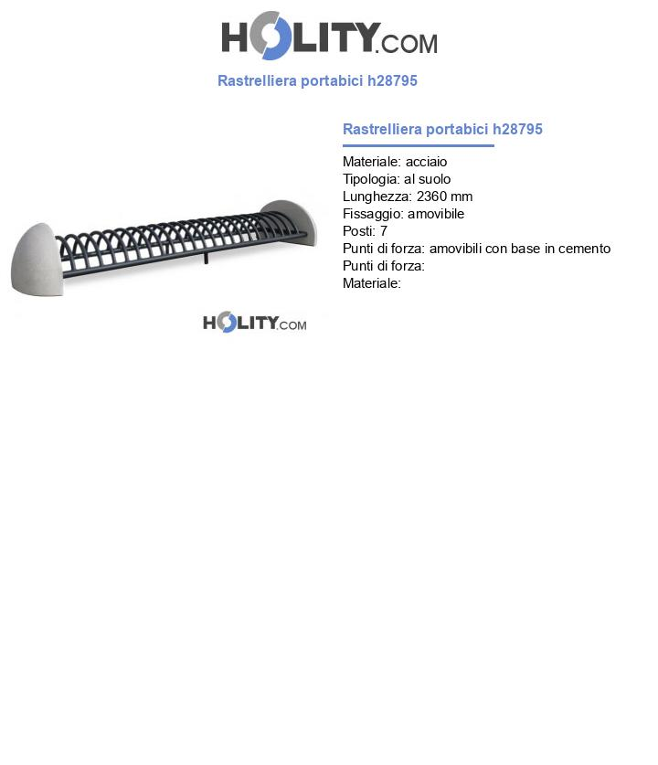 Rastrelliera portabici h28795