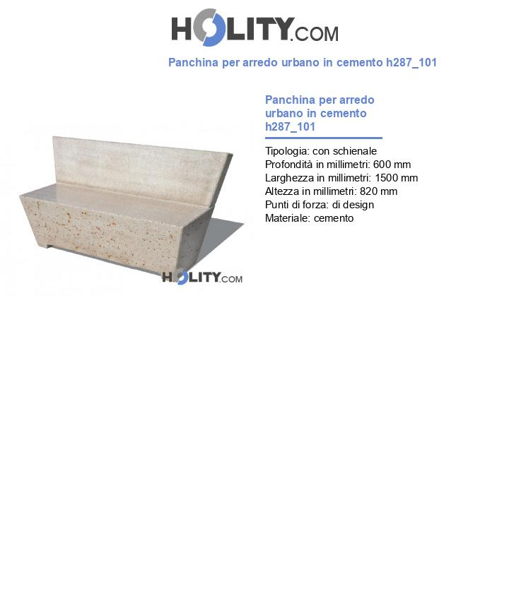 Panchina per arredo urbano in cemento h287_101