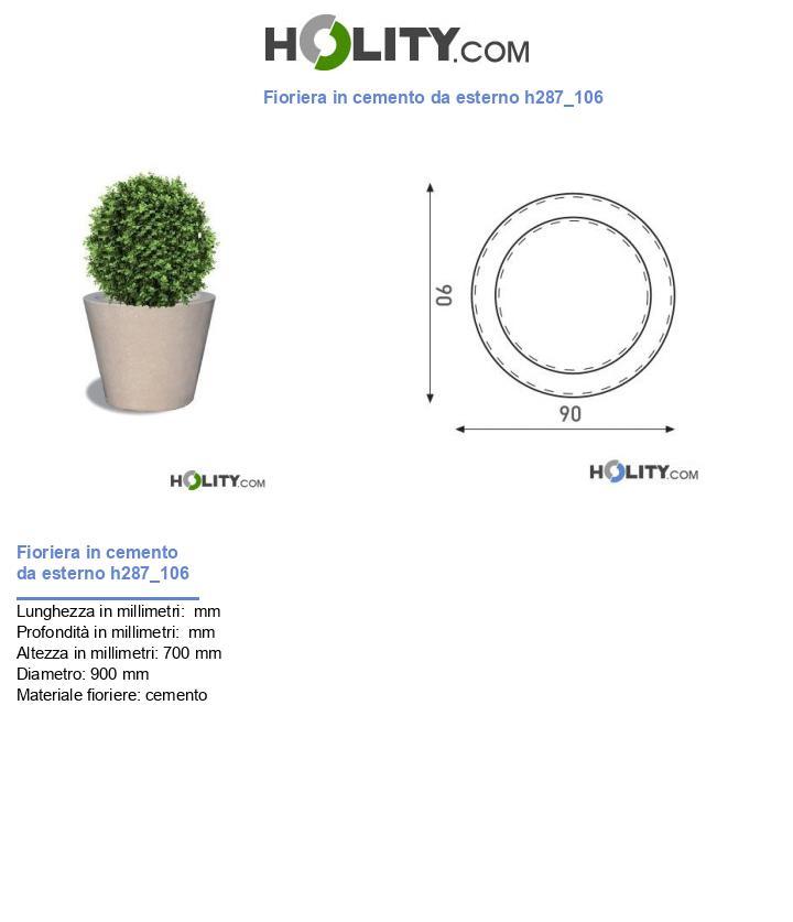 Fioriera in cemento da esterno h287_106