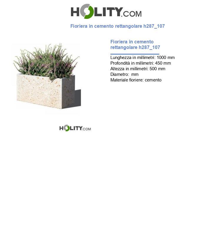 Fioriera in cemento rettangolare h287_107