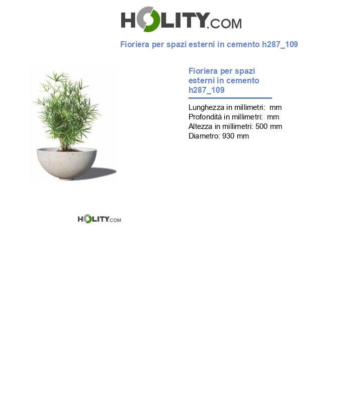 Fioriera per spazi esterni in cemento h287_109