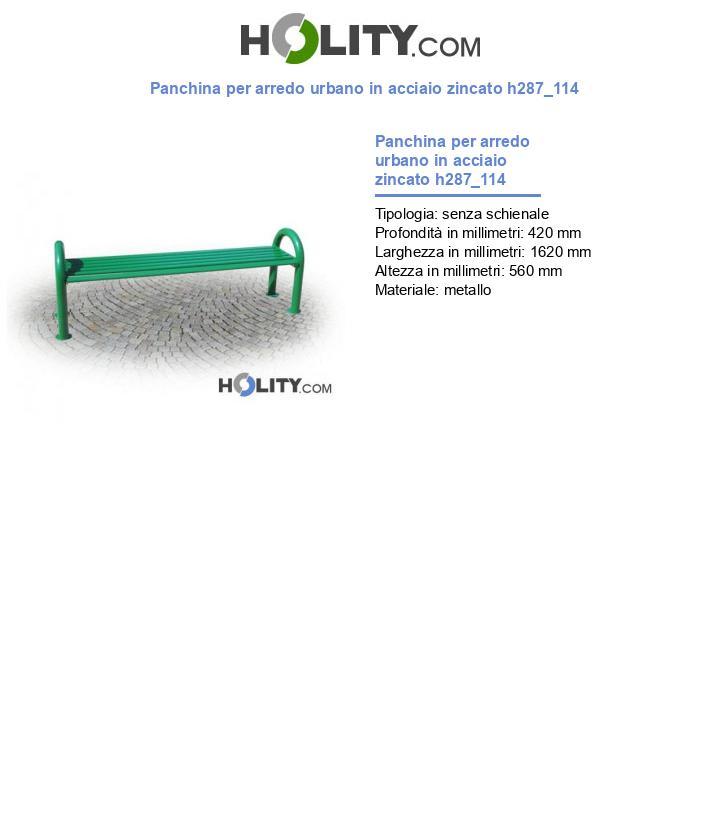 Panchina per arredo urbano in acciaio zincato h287_114