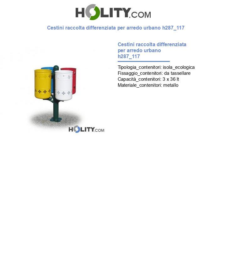 Cestini raccolta differenziata per arredo urbano h287_117