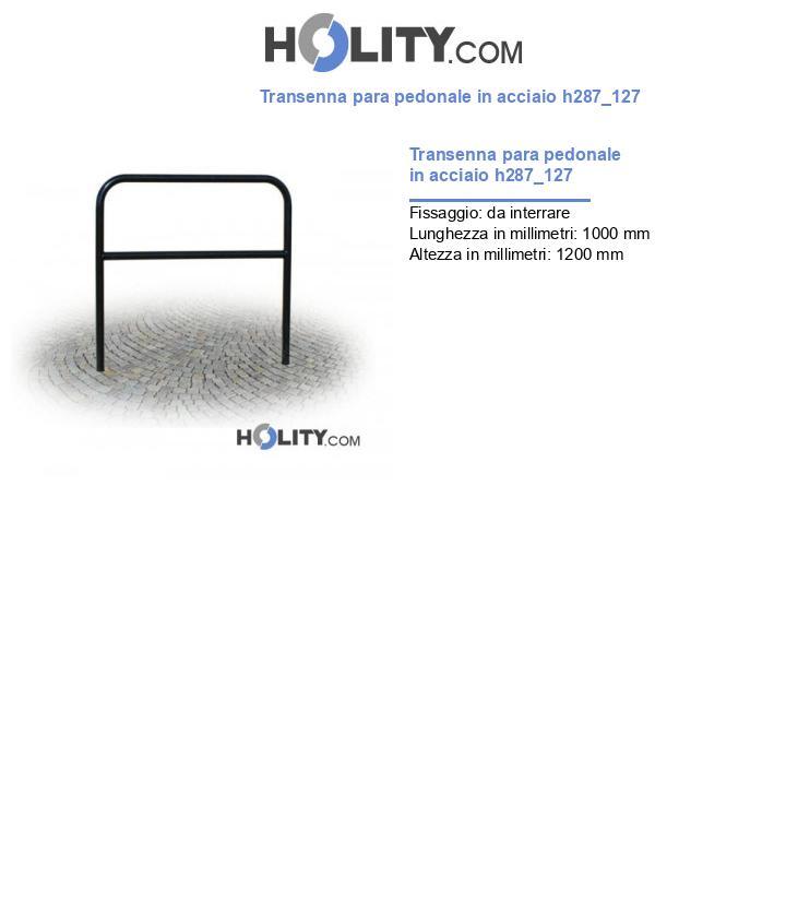 Transenna para pedonale in acciaio h287_127