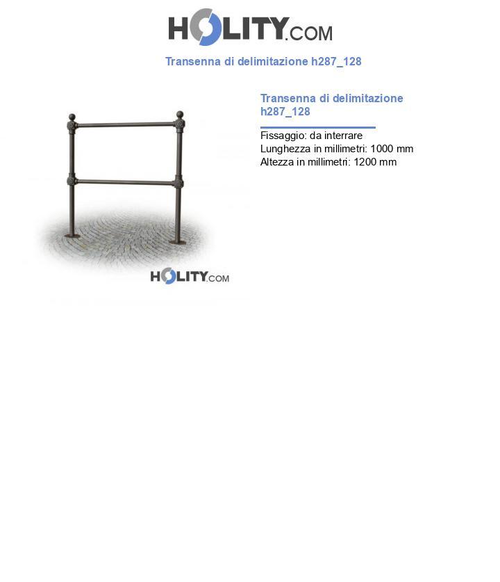 Transenna di delimitazione h287_128
