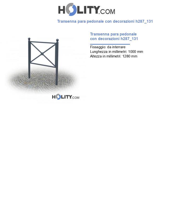 Transenna para pedonale con decorazioni h287_131
