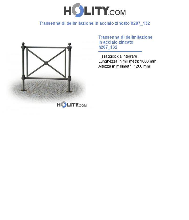 Transenna di delimitazione in acciaio zincato h287_132