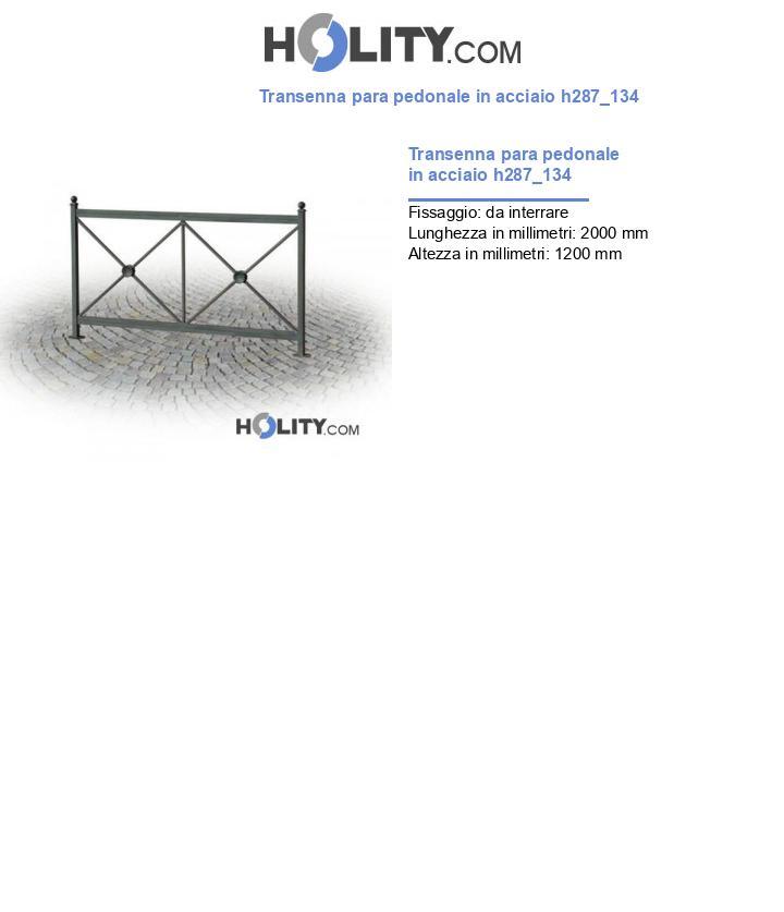 Transenna para pedonale in acciaio h287_134