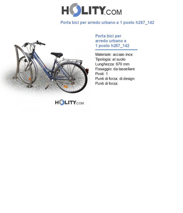 Porta bici per arredo urbano a 1 posto h287_142