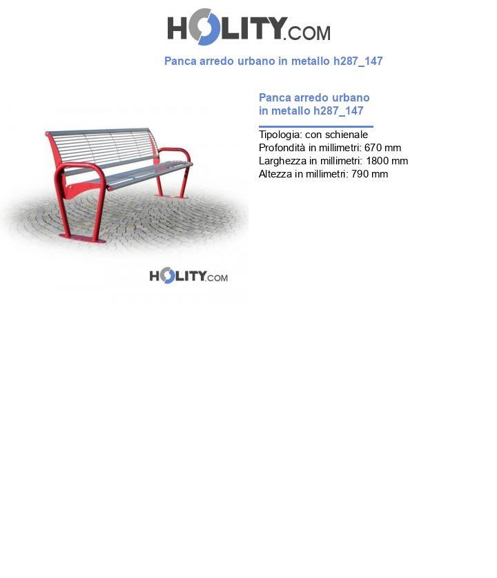Panca arredo urbano in metallo h287_147