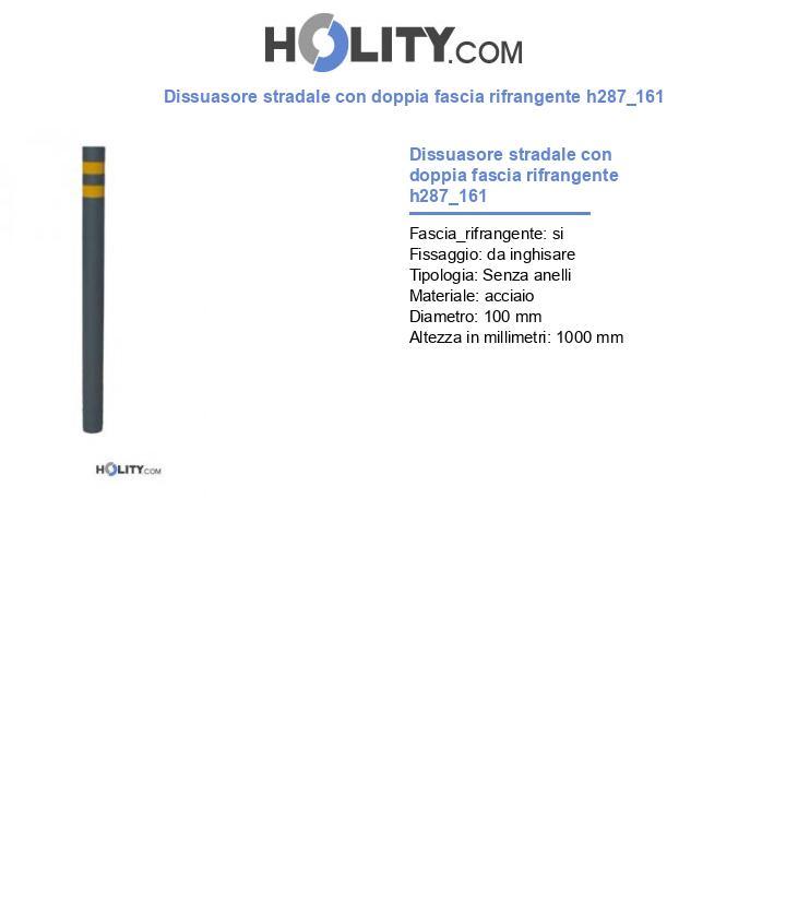 Dissuasore stradale con doppia fascia rifrangente h287_161